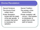 Reflection on Divine and Private Revelation